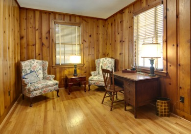 Wood paneled room