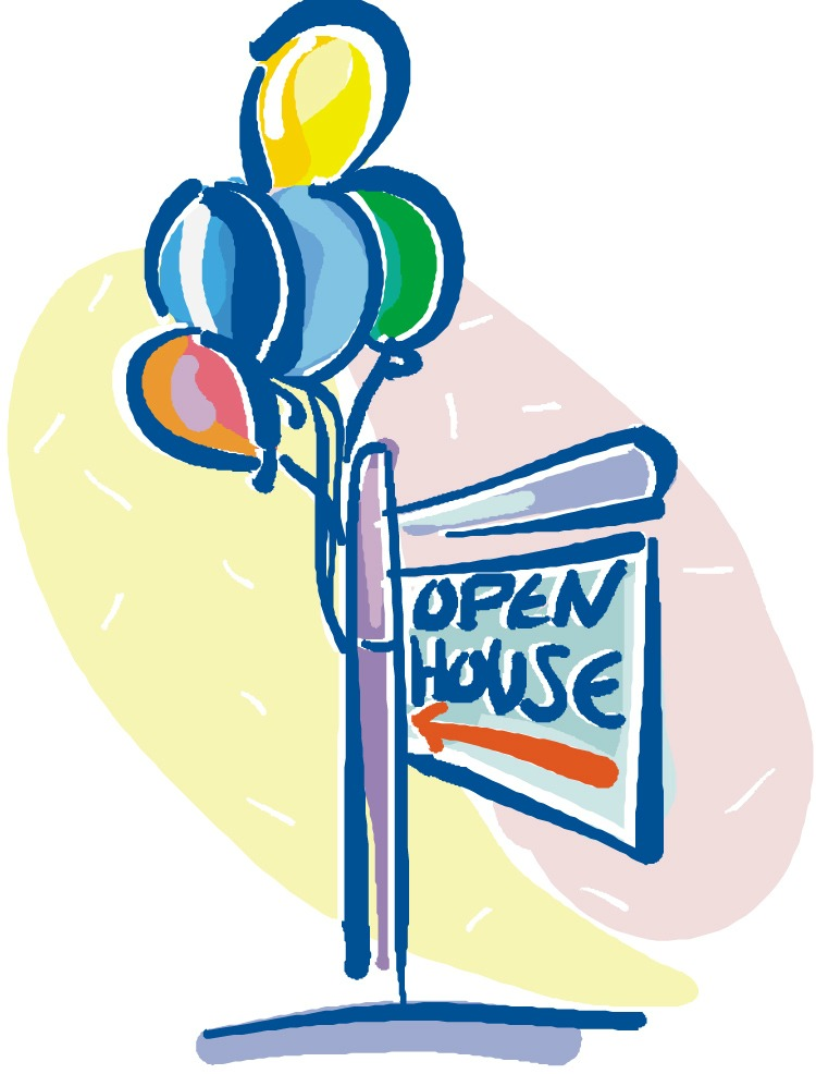 Use colorful balloons on your open house signs to attract lookers.