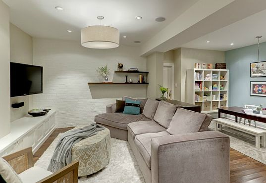 Basement media interior design