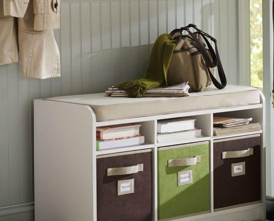 Foyer storage bench