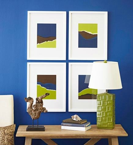 Use repetition of color and shape to unite vignettes.