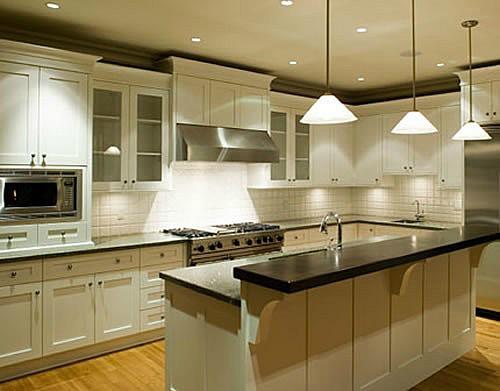 Kitchen lighting design interior pictures