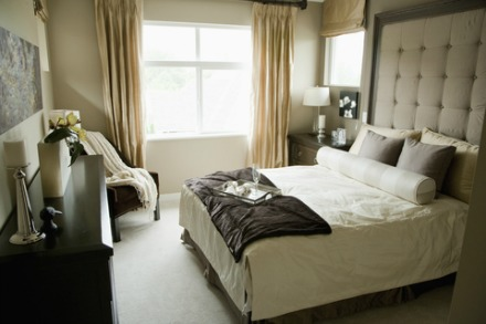 Monochromatic bedroom design interior pictures