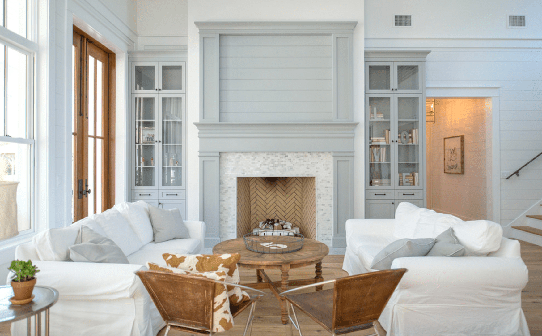 How to sell your home. Painted wood paneling in farmhouse style.