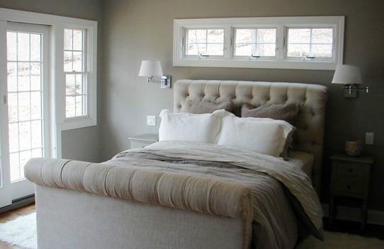 Monochromatic small bedroom