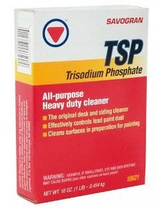 Use TSP (trisodium phosphate) to remove grease and cigarette stains before you paint!