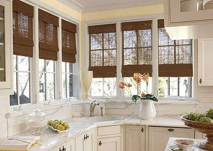 Kitchen With Window Blinds