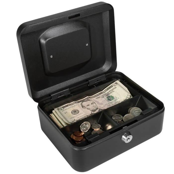 Cash box for your garage sale.