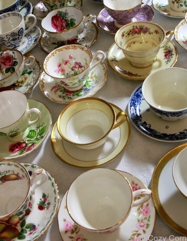 Yard sale tea cups