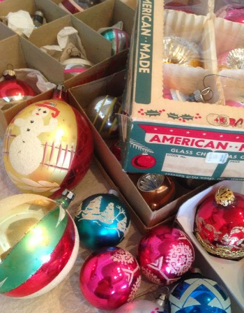 Garage sale Christmas ornaments
